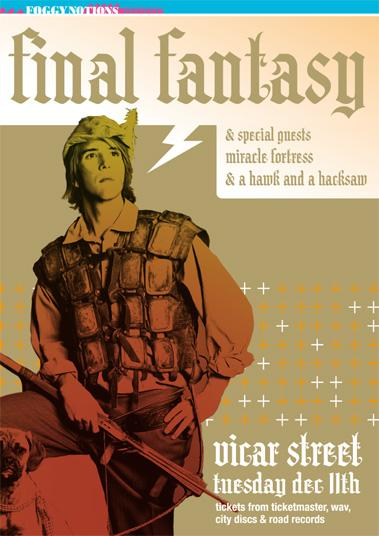 final fantasy, foggy notions, vicar st, hawk and a hacksaw, miracle fortress